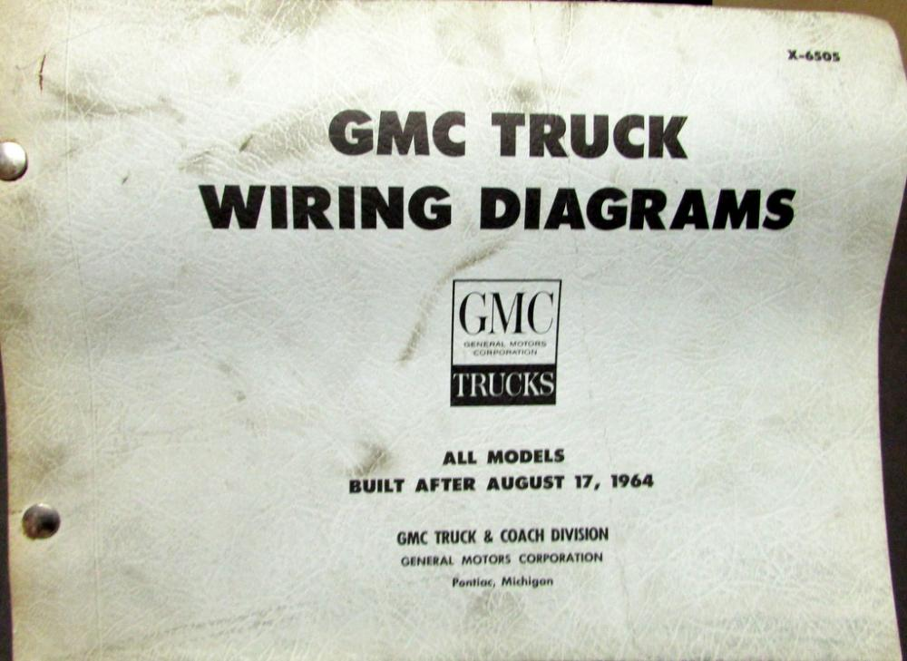 1965 gmc dealer electrical wiring diagram service manual all