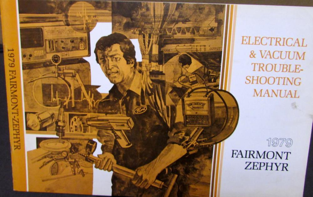 1979 ford mercury electrical & vacuum diagram service manual fairmont zephyr