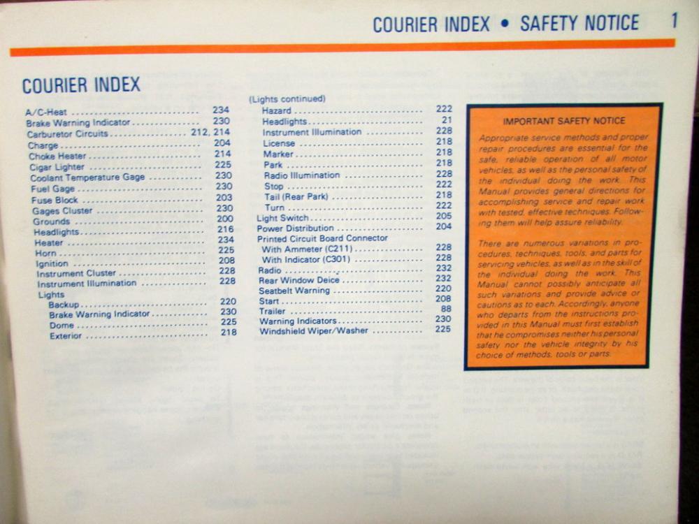 1981 ford dealer electrical & vacuum diagram manual bronco f100-350 courier