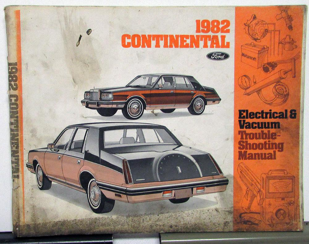 Oldsmobile Vacuum Diagram Lincoln Wiring Library 1982 Dealer Electrical Service Manual Continental