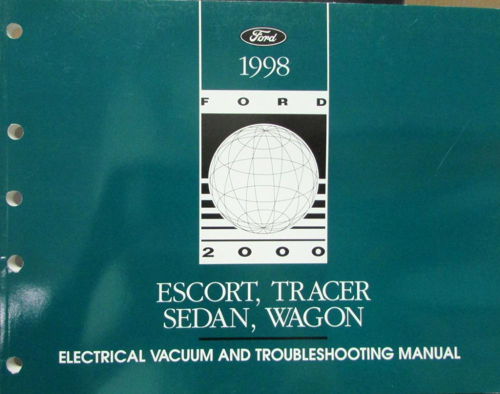1998 Ford Mercury Dealer Electrical Vacuum Diagram Manual Escort Ac Wiring For Tracer