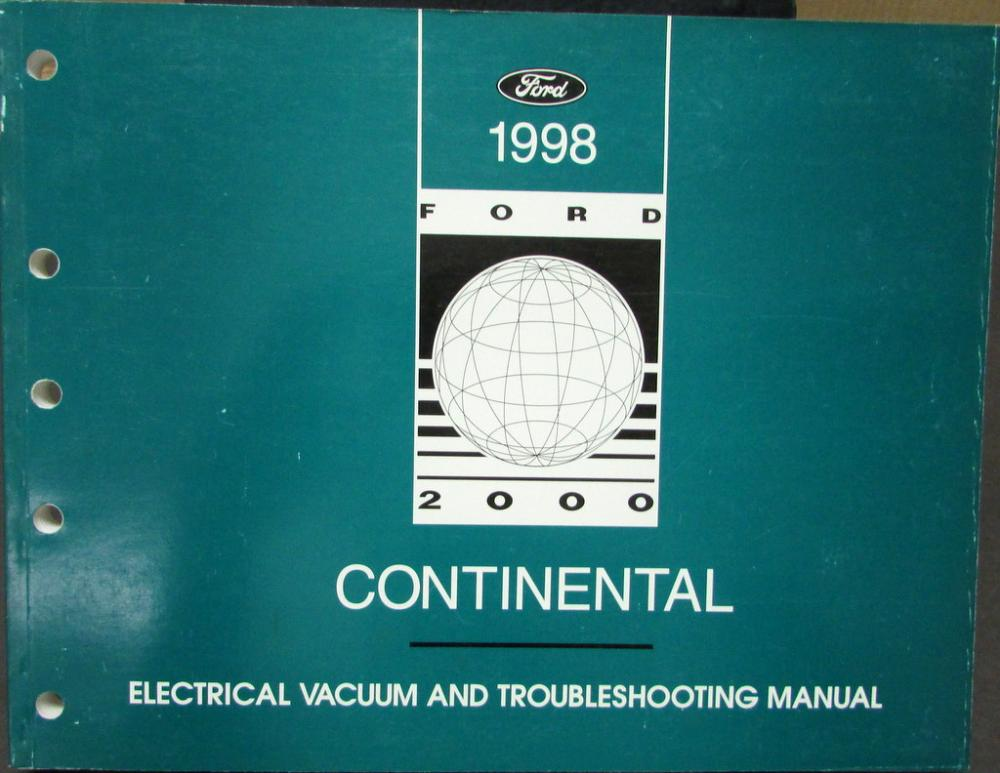 1998 Lincoln Dealer Electrical Vacuum Diagram Manual