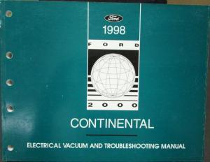 1998 lincoln mark viii volume 1 2 service shop repair. Black Bedroom Furniture Sets. Home Design Ideas