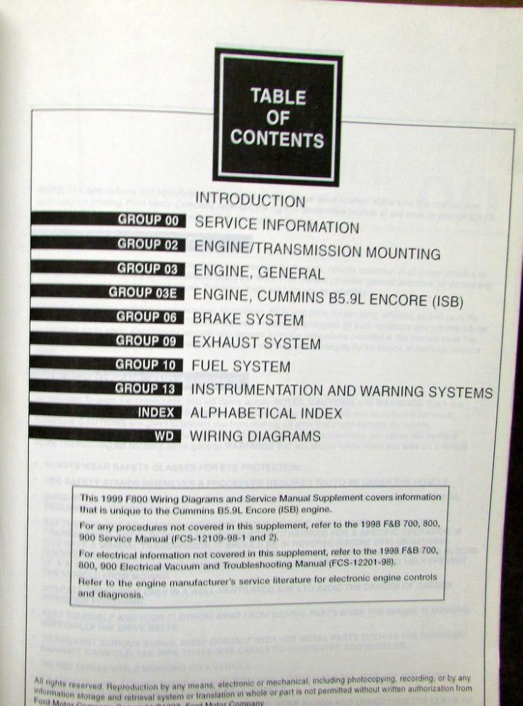 1999 ford dealer electrical wiring diagram service manual ... 1999 ford f800 wiring schematic 1999 ford taurus wiring schematic #11