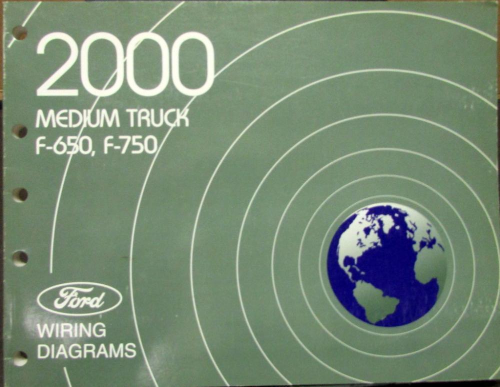 2000 Ford Dealer Electrical Wiring Diagram Service Manual Medium Rhautopaper: Ford Medium Duty Truck Wiring Diagrams At Gmaili.net