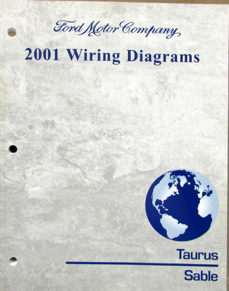 2001 Ford Mercury Dealer Electrical Wiring Diagram Service Manual 01 Taurus Sable