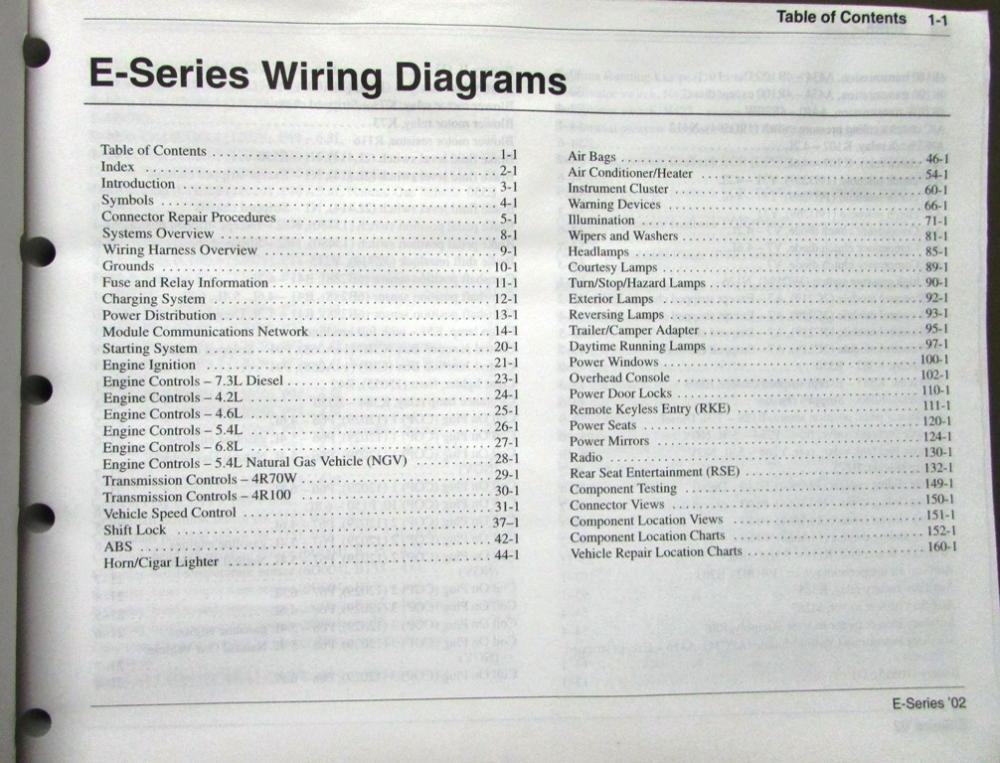 ford e series wiring diagram 2012 ford e series fuse diagram 2002 ford dealer electrical wiring diagram service manual ... #5
