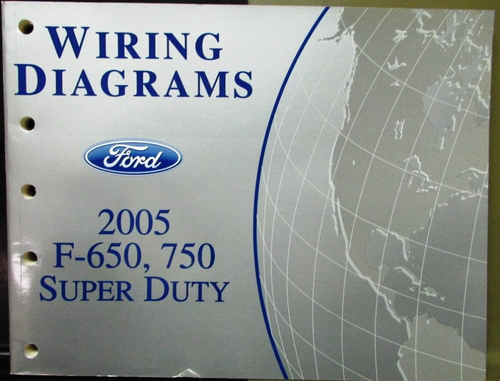 2005 Ford Electrical Wiring Diagram Service Manual F650/750 ... Ac Wiring Diagram Ford F on