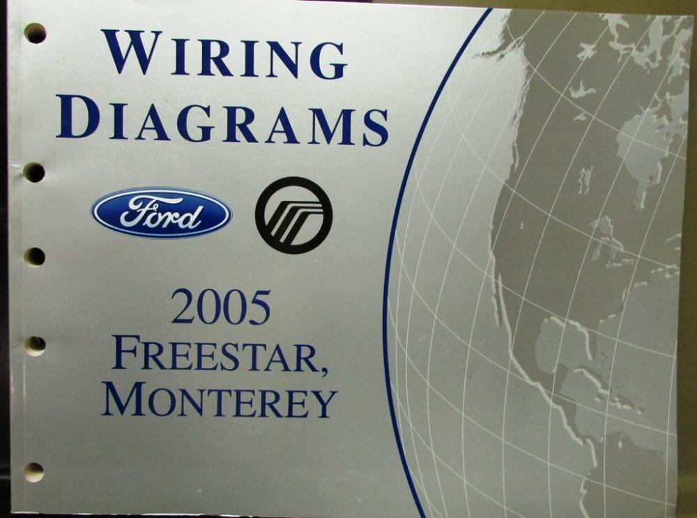2005 ford mercury electrical wiring diagram service manual freestar rh autopaper com 2005 mercury sable radio wiring diagram 2005 mercury montego radio wiring diagram