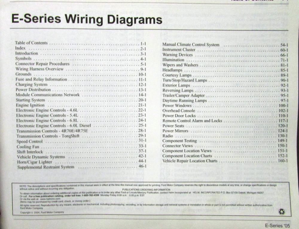 2005 ford dealer electrical wiring diagram service manual ... 2014 ford e series fuse diagram ford e series wiring diagram #6