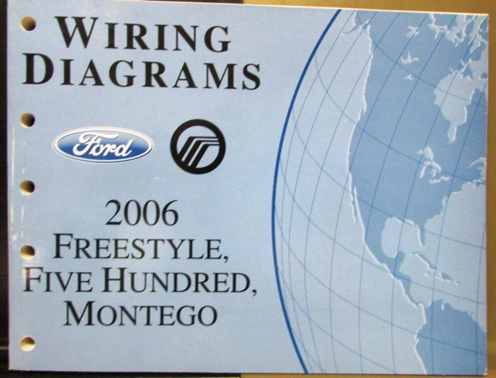 2006 ford mercury dealer electrical wiring diagram manual freestyle rh autopaper com 2006 ford 500 radio wiring diagram 2006 ford 500 tail light wiring harness