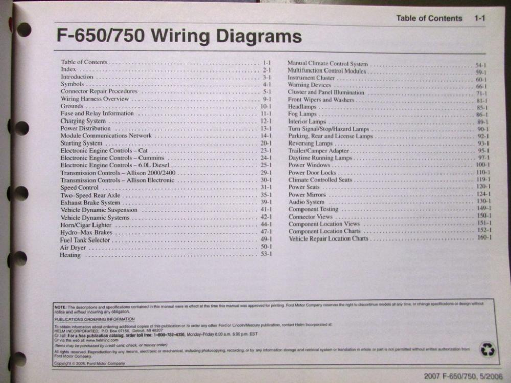 2007 ford dealer electrical wiring diagram manual f650 750 super duty truck