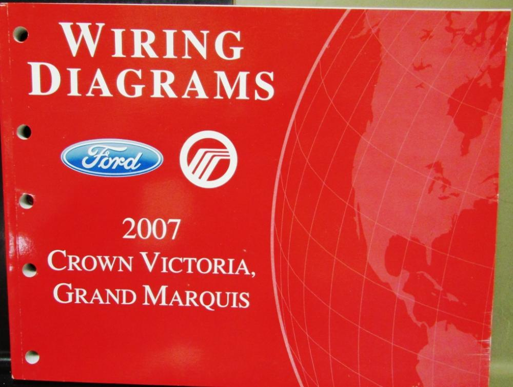2007 Ford Mercury Electrical Wiring Diagram Manual Crown Vic Grand