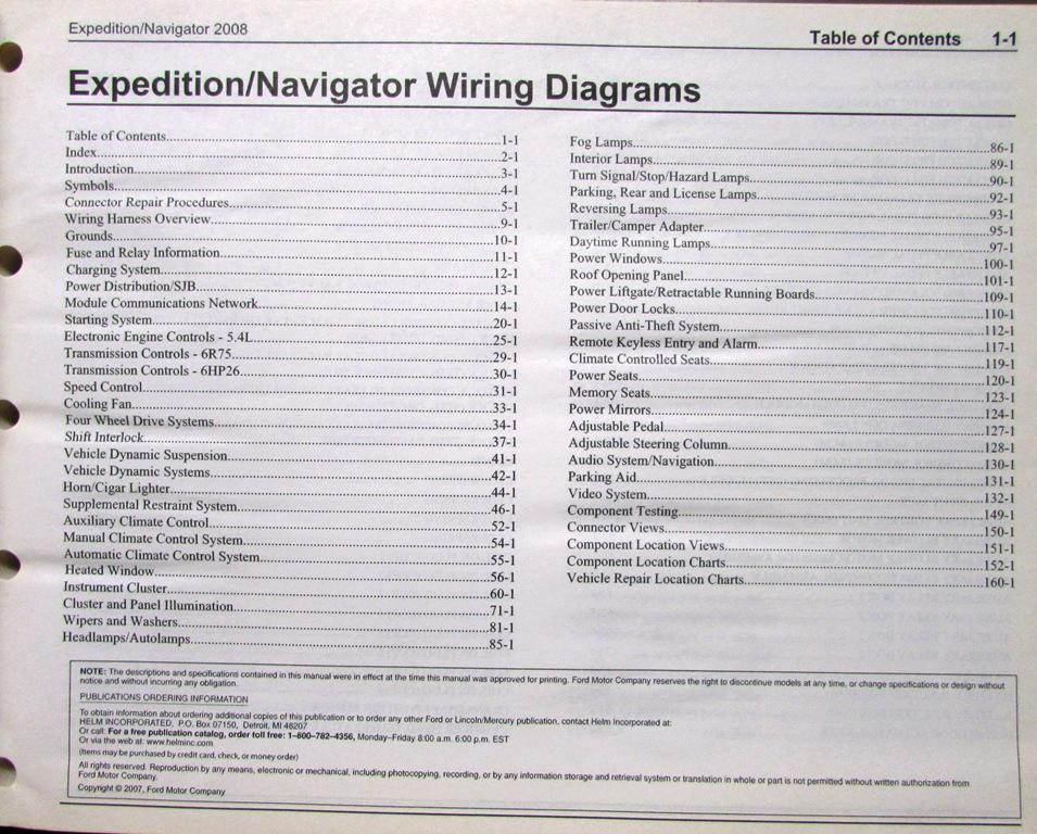 2008 ford expedition wiring diagram 2008 ford lincoln dealer electrical wiring diagram manual ... 1997 ford expedition wiring diagram