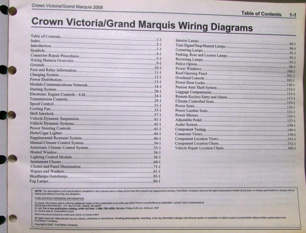 2008 crown victoria wiring diagram 2008 image ford mercury electrical wiring diagram manual crown vic grand marquis on 2008 crown victoria wiring diagram