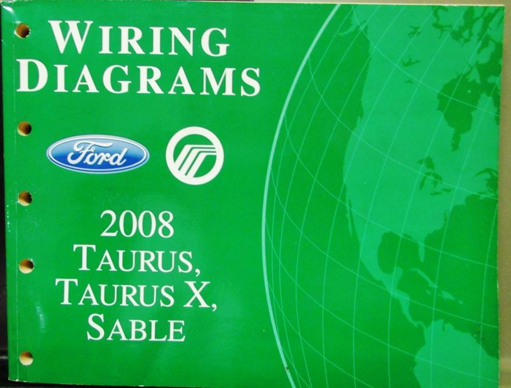 2008 ford mercury dealer electrical wiring diagram service manual 2011 Ford Super Duty Wiring Diagram 2008 ford mercury dealer electrical wiring diagram service manual taurus x sable
