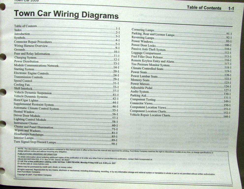 2009 lincoln dealer electrical wiring diagram service