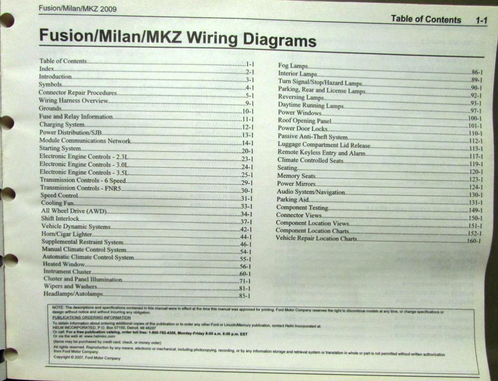 2007 lincoln mkz wiring diagrams 2009 ford mercury lincoln electrical wiring diagram manual ... 2009 lincoln mkz wiring diagram #8