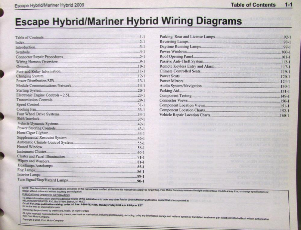 2009 ford flex wiring diagrams 2009 ford mercury electrical wiring diagram service manual ... #13