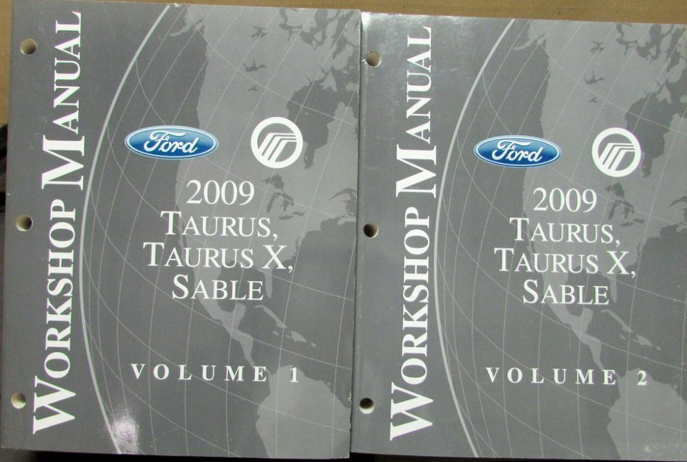 2009 ford taurus x and mercury sable service shop repair manual rh autopaper com 2009 ford taurus repair manual 2018 Taurus