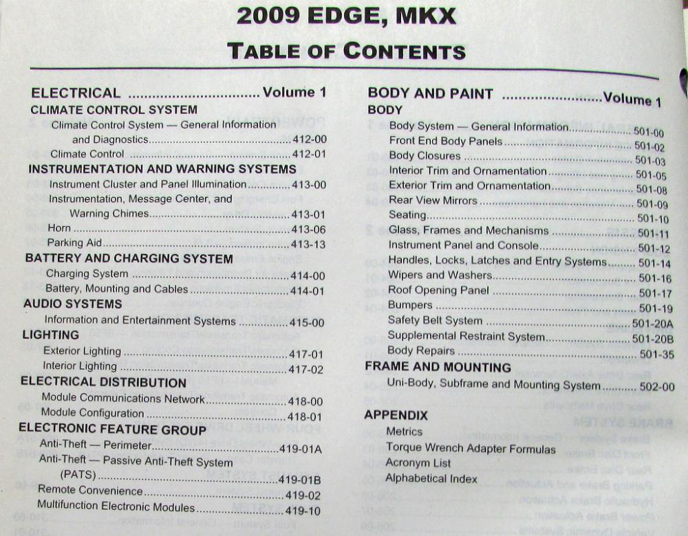 2009 ford edge and lincoln mkx service shop repair manual original rh autopaper com 2008 ford edge manual 2008 ford edge manual