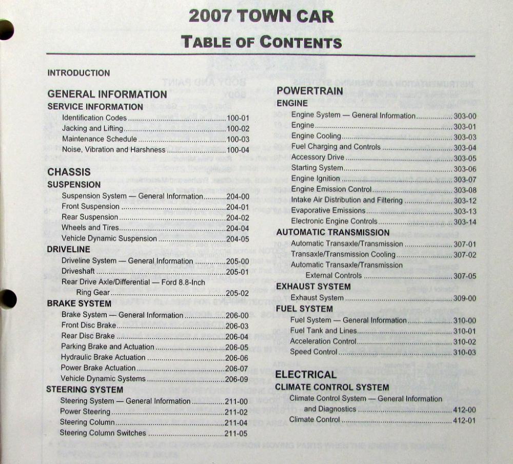 2007 lincoln town car service shop repair manual original rh autopaper com 1993 Lincoln Town Car Interior 2007 lincoln town car repair manual pdf