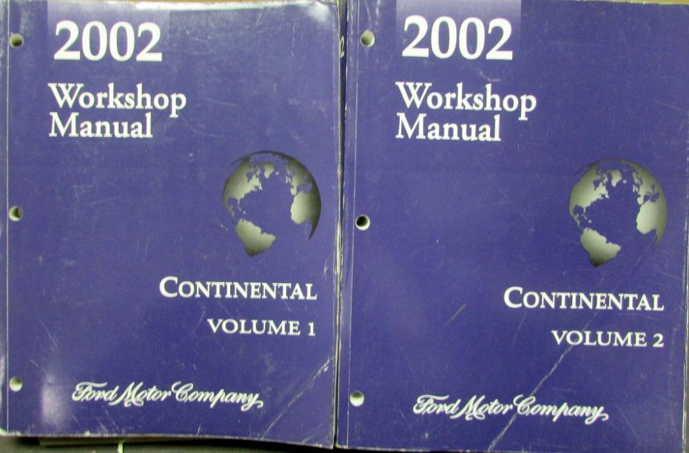 2002 lincoln continental vols 1 2 service shop repair. Black Bedroom Furniture Sets. Home Design Ideas