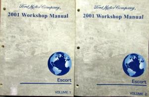 2001 ford escort vols 1 2 service shop repair manual. Black Bedroom Furniture Sets. Home Design Ideas