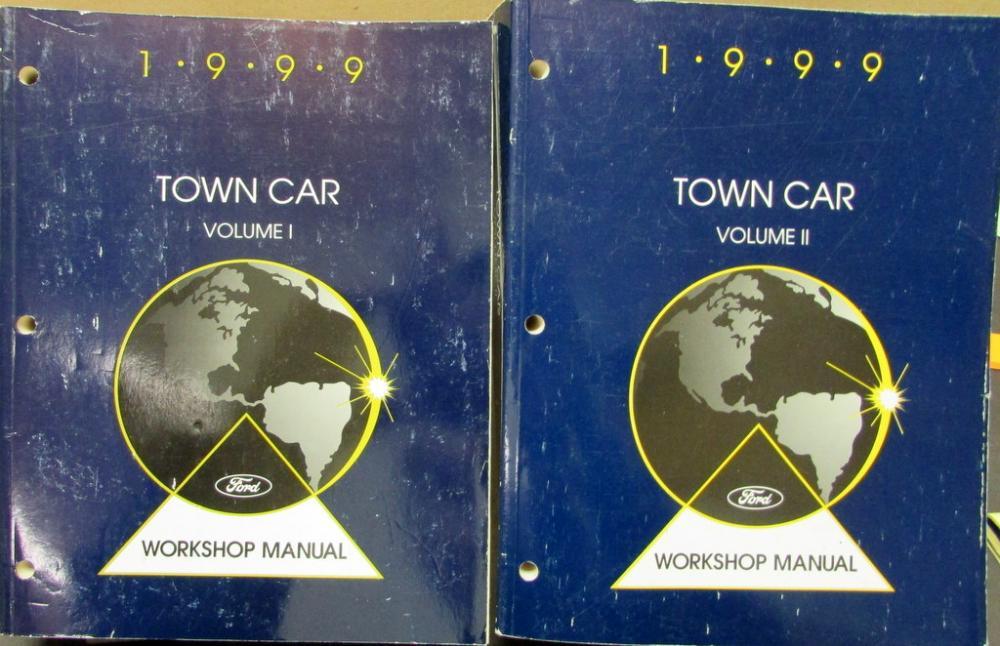 1999 lincoln town car volume 1 2 service shop repair manual original rh autopaper com Lincoln Town Car Executive Series Lincoln Town Car Executive Series