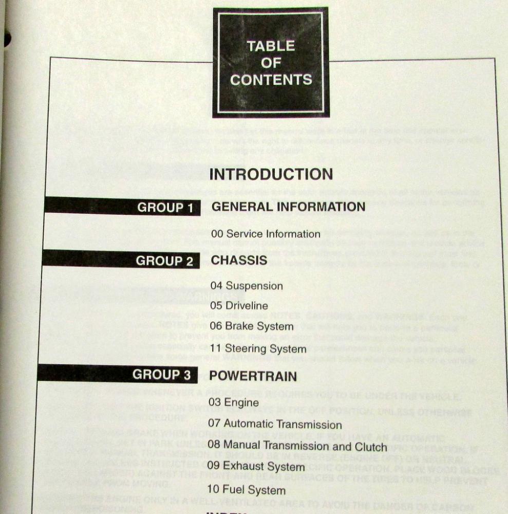 1998 Ford Escort Mercury Tracer Vol 1 & 2 Service Repair Workshop Manual Set