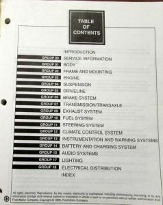 1997 lincoln continental service shop repair manual original. Black Bedroom Furniture Sets. Home Design Ideas