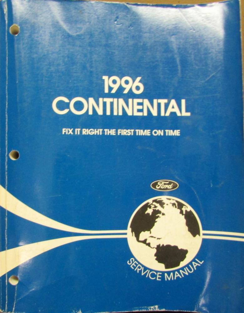 1996 lincoln continental service shop repair manual original. Black Bedroom Furniture Sets. Home Design Ideas