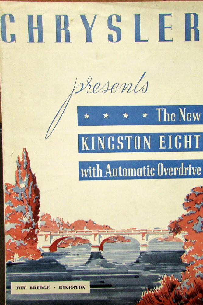 1936 Chrysler Kingston Eight Auto Overdrive Original Sales Brochure Leaflet
