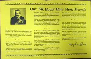 1938 Chrysler CBS Broadcast by Major Bowes Our Mr Hoyts Have Many Friends