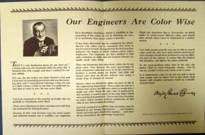 1938 Chrysler CBS Broadcast Major Bowes Our Engineers Are Color Wise