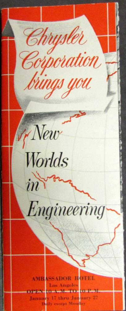 Circa 1950 Chrysler Corp New Worlds Engineering Exhibit In Ambassador Hotel LA