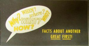 1963 Chrysler Warranty Facts About Another First Sales Brochure Original