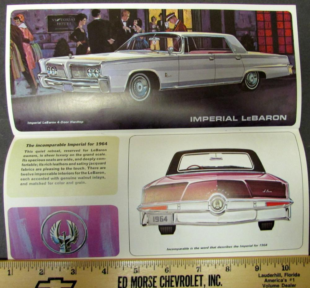 1964 Simca Plymouth Chrysler Imperial Dodge Full Line
