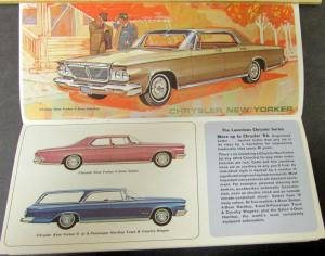1964 Simca Plymouth Chrysler Imperial Dodge Full Line Sales Brochure Original