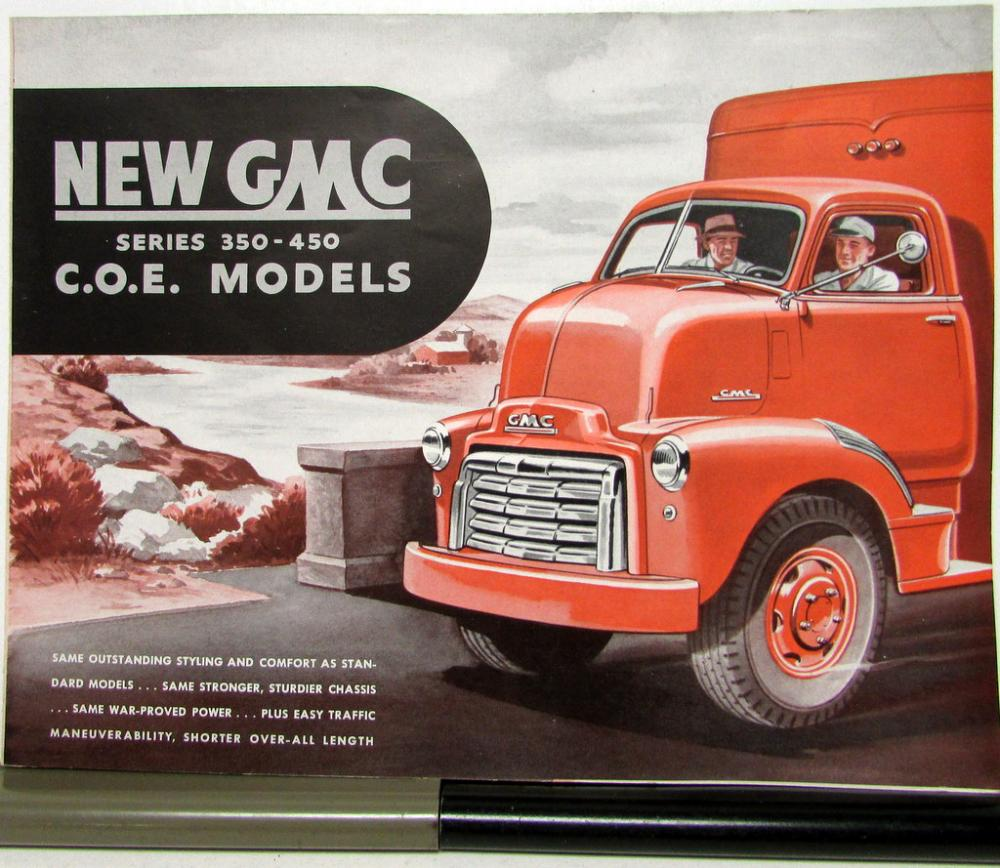 1949 Gmc 350 Through 450 Coe Models Trucks Original Sales Brochure 1941 Truck Folder
