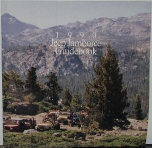 1990 Jeep Jamboree Guidebook Sales Brochure Original Event Schedule