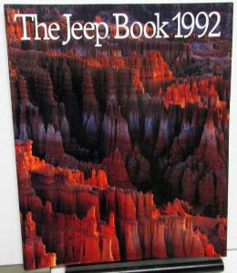 1992 Jeep Book Sales Brochure Wrangler Cherokee Comanche Pickup Original