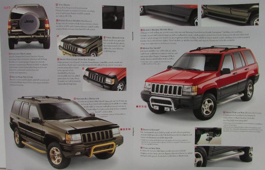 1996 jeep grand cherokee mopar accessories sales brochure catalog. Cars Review. Best American Auto & Cars Review