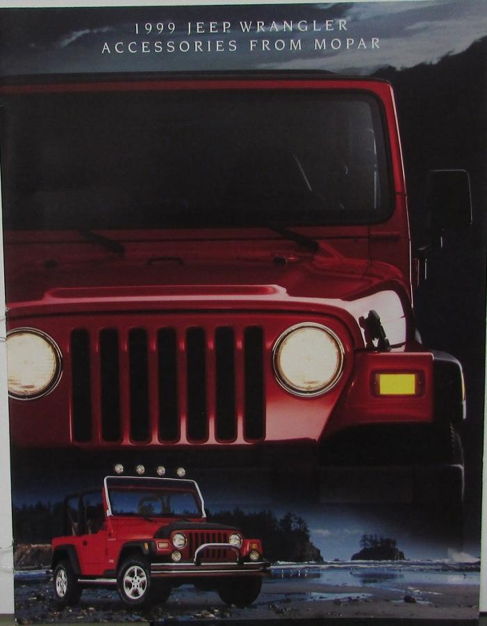 1999 Jeep Wrangler Mopar Accessories Sales Brochure Color Catalog